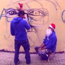 PichiAvo Merry Christmas Graffiti
